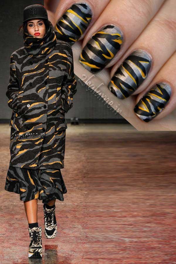 عکس-آموزش-طراحی-ناخن-ست-با-لباس پالتو