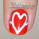 عکس مدل و طرح ناخن ضربان قلب عاشقانه (1)