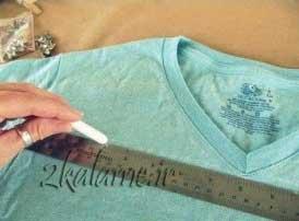 عکس-طراحی-لباس-فیروزه-ای-قدیمی-ساده-به-یک-لباس-شیک-جدید