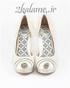 عکس محبوب ترین مدل ها و طرح های کفش عروس سری اول